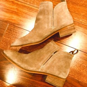 Dolce Vita Taupe Suede Tessey Bootie